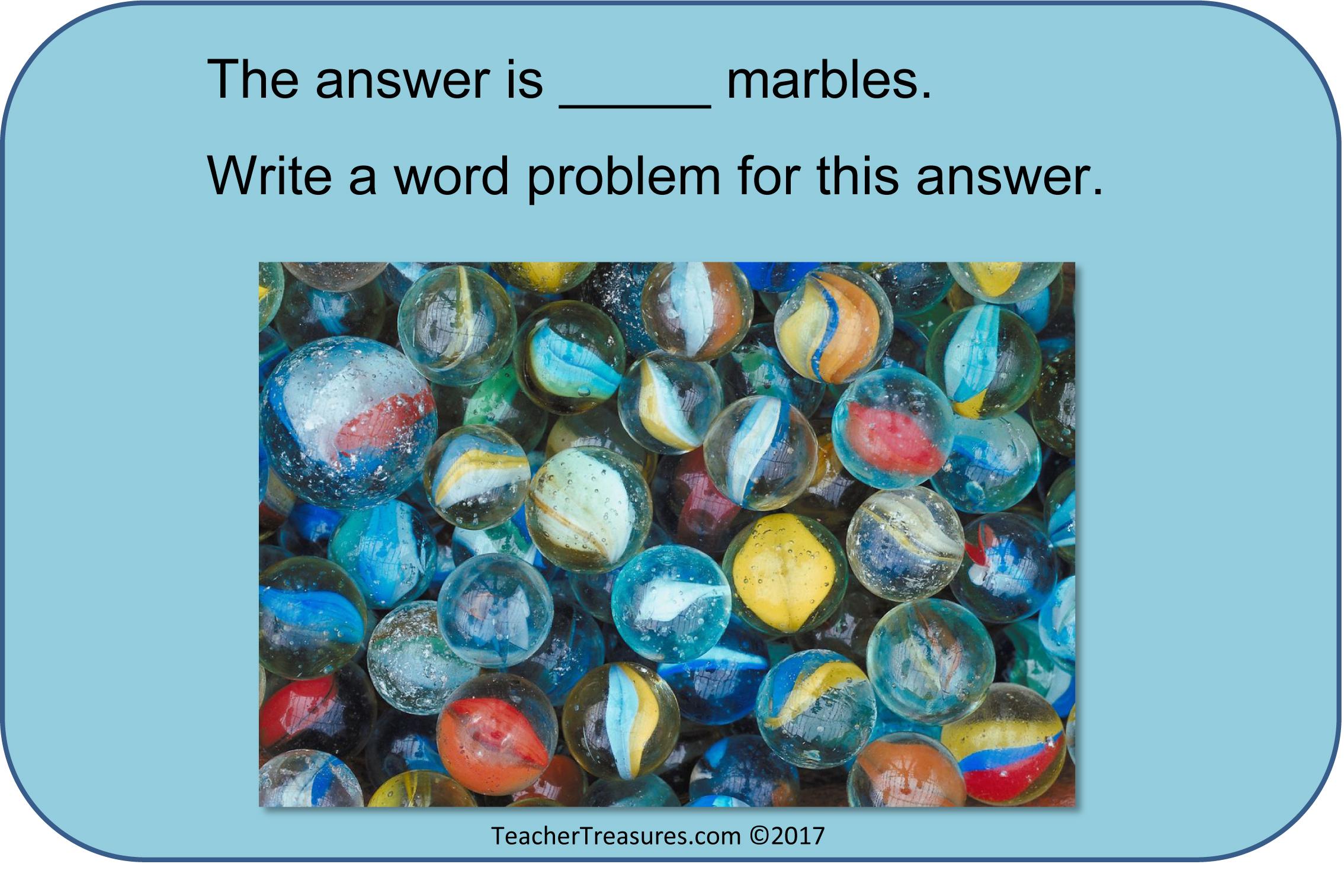 math card marbles